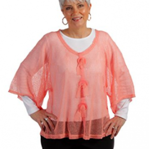 Key Largo Mesh Top by Noelle - Coral