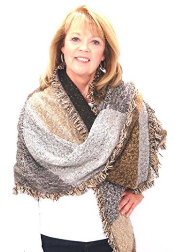 Poncho Blanket Wrap - Neutral Colors